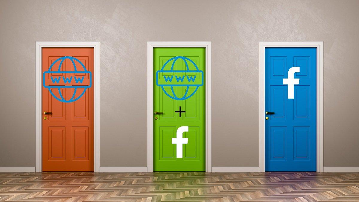 Sito web professionale, pagina facebook, o entrambi?